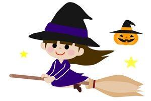 ハロウィン イラスト 魔女 女の子 魔女っ子 かわいい 無料 フリー