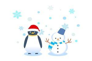 雪だるま ペンギン イラスト 無料 商用フリー かわいい