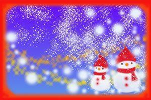 雪だるま イラスト 背景 おしゃれ 幻想的 無料 フリー