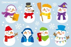 雪だるま スノーマン イラスト かわいい おしゃれ 無料 フリー