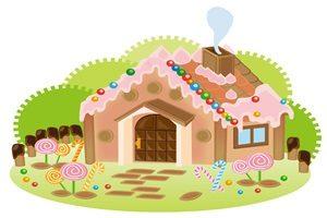ハロウィン イラスト お菓子の家 無料 フリー