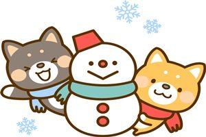 雪だるま 犬 イラスト 無料 フリー かわいい 柴犬