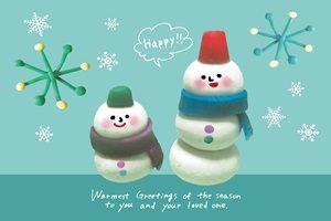 雪だるま イラスト 背景 ユニーク かわいい 無料 フリー