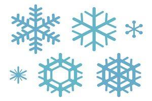 雪の結晶 イラスト 簡単 シンプル 素材 無料 商用フリー