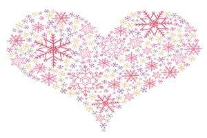 雪の結晶 イラスト かわいい おしゃれ 綺麗 ハート型 無料 商用フリー