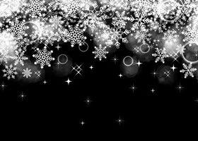 雪の結晶 イラスト 白黒 シルエット 背景 無料 商用フリー