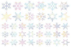 雪の結晶 イラスト パステルカラー 水彩 無料 商用フリー