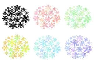 雪の結晶 イラスト 綺麗 おしゃれ 無料 商用フリー