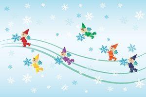 雪の結晶 イラスト かわいい おしゃれ 妖精 無料 商用フリー