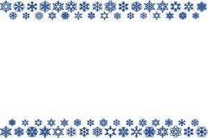 雪の結晶 イラスト フレーム 枠 無料 商用フリー