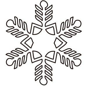 雪の結晶 イラスト 白黒 線画 塗り絵 無料 商用フリー