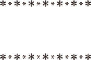 雪の結晶 イラスト フレーム 白黒 モノクロ 無料 商用フリー