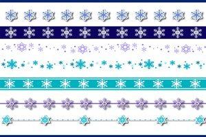 雪の結晶 イラスト 綺麗 ライン 枠 無料 商用フリー