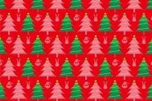 クリスマスツリー イラスト パターン 背景 壁紙 かわいい 無料 フリー