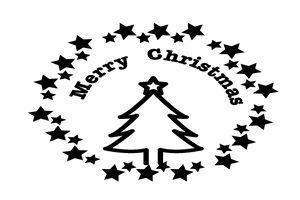 クリスマスツリー イラスト ロゴ 白黒 モノクロ 無料 フリー