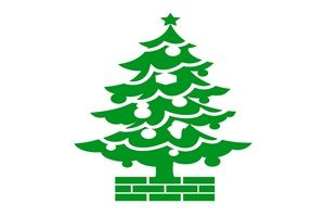 クリスマスツリー イラスト シルエット カラーシルエット 無料 フリー