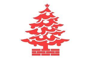 クリスマスツリー シルエット カラーシルエット イラスト 無料 フリー