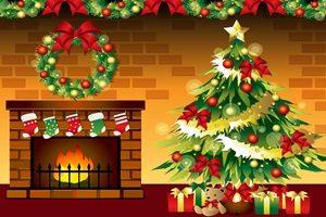 クリスマスツリー 暖炉 イラスト おしゃれ かわいい 無料 フリー