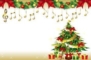 クリスマスツリー 音符 オーナメント イラスト おしゃれ 無料 フリー
