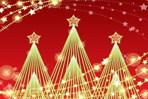 クリスマスツリー イルミネーション 電飾 イラスト 無料 フリー