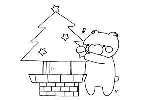 クリスマスツリー イラスト 塗り絵 線画 白黒 無料 フリー