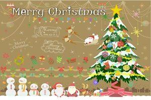 クリスマスツリー 雪だるま イラスト 可愛い 無料 フリー