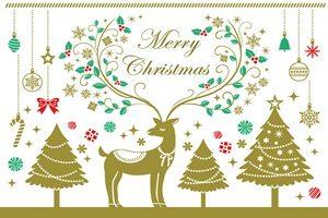 クリスマスツリー トナカイ イラスト おしゃれ 無料 フリー