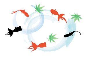 もみじ 金魚 イラスト 無料 フリー おしゃれ かわいい 綺麗
