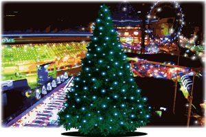 クリスマスツリー イルミネーション イラスト おしゃれ 綺麗 無料 フリー