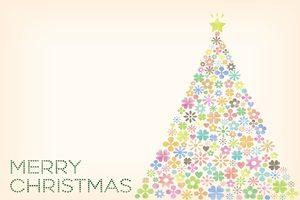 クリスマスツリー イラスト パステルカラー かわいい 無料 フリー