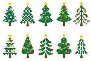 クリスマスツリー イラスト かわいい 素材 無料 フリー