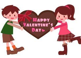 バレンタイン イラスト カップル 男の子 女の子 かわいい 無料 フリー