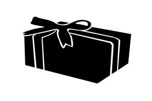 クリスマスプレゼント イラスト 白黒 シルエット 無料 商用フリー