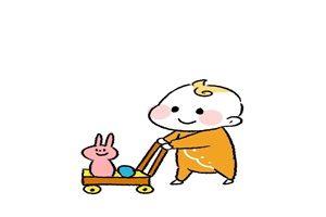 赤ちゃん 手押し車 イラスト おもちゃ 無料 商用フリー