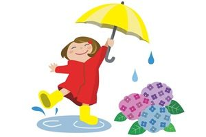 あじさい イラスト 女の子 かわいい 梅雨 傘 無料 商用フリー