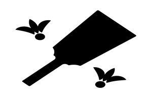 羽子板 イラスト 白黒 モノクロ シルエット 無料 フリー