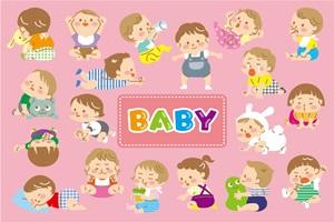 赤ちゃん イラスト 成長過程