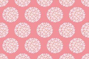 あじさい イラスト パターン かわいい ピンク 無料 商用フリー