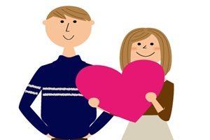 バレンタイン カップル イラスト 大人 かわいい 無料 フリー