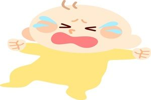 赤ちゃん イラスト 泣く 無料 商用フリー