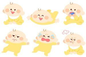 赤ちゃん イラスト 表情 無料 商用フリー