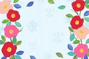 椿 イラスト フレーム 枠 綺麗 かわいい おしゃれ 無料 商用フリー