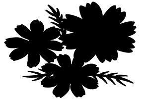 コスモス イラスト 白黒 無料 フリー