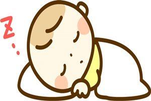 赤ちゃん イラスト 寝る お昼寝 無料 商用フリー