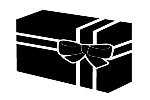 プレゼント イラスト 白黒 シルエット モノクロ 無料 商用フリー