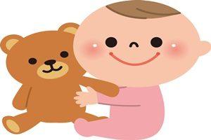 赤ちゃん ぬいぐるみ イラスト くま テディベア かわいい 無料 商用フリー