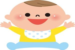 赤ちゃん おすわり イラスト かわいい 無料 商用フリー