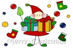 クリスマスプレゼント イラスト かわいい 妖精 小人 無料 商用フリー
