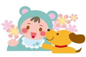 赤ちゃん 犬 イラスト かわいい 無料 商用フリー