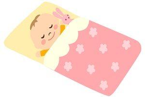 赤ちゃん イラスト 寝ている 寝る 睡眠中 無料 商用フリー